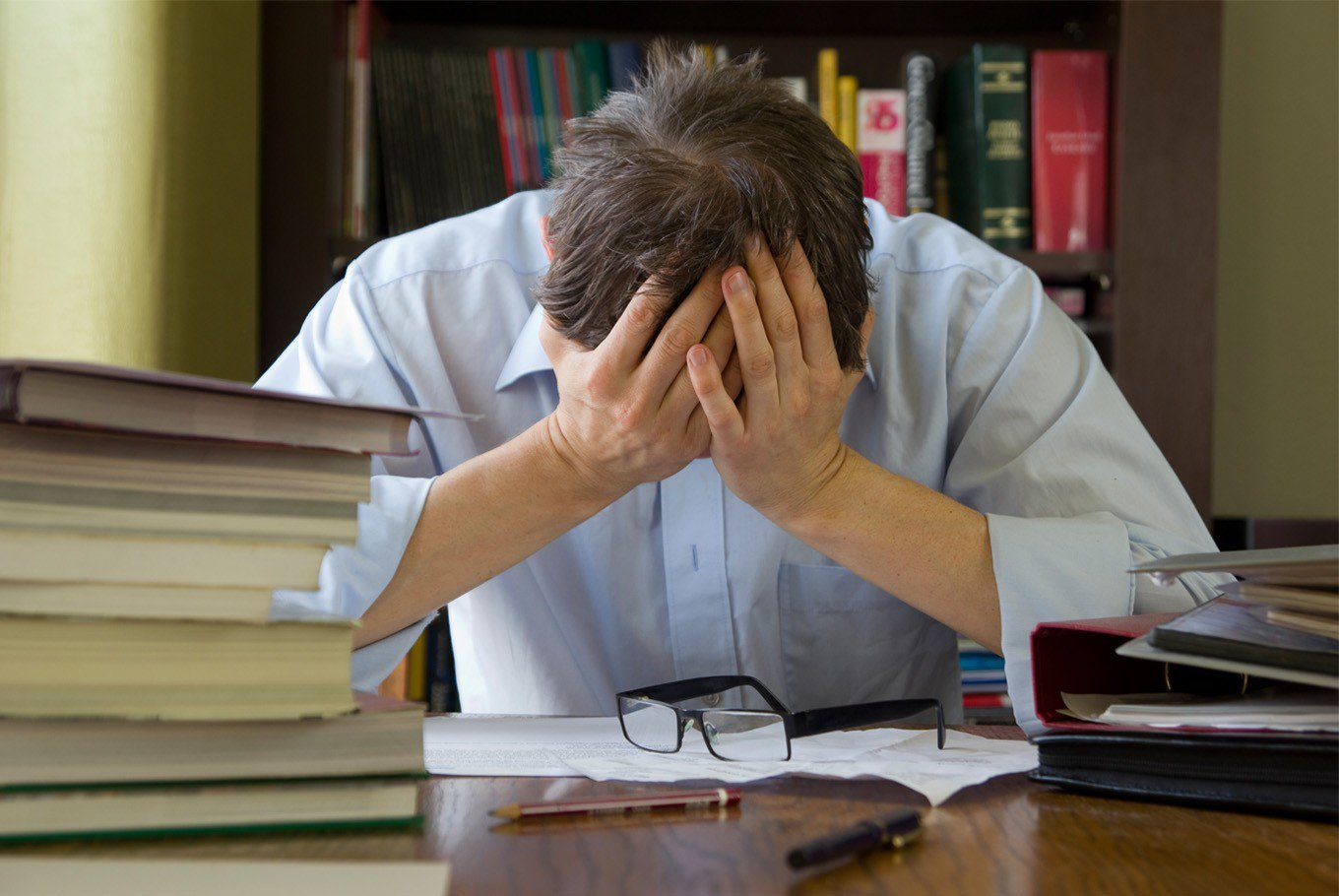 Taking work to the extreme may be a sign of deeper psychological or emotional issues. (Shutterstock/-)