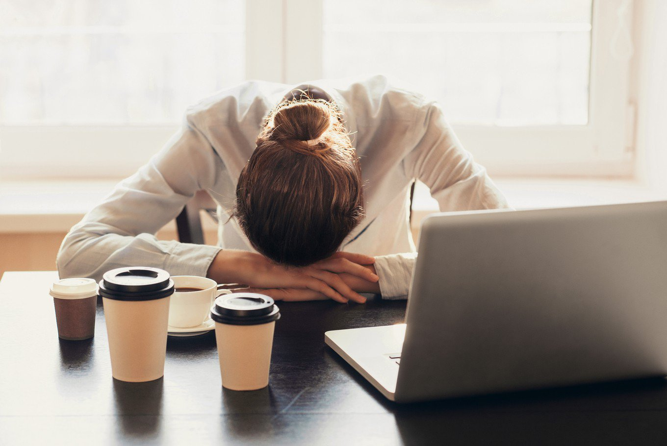 Stress can cause headaches, thanks to held tension in the jaw and the rest of the head. (Shutterstock/File)